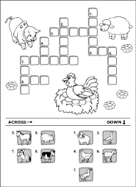 domestic animals vocabulary for kids learning english printable