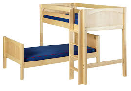 MISH Bunk Bed In Natural By Maxtrix Kids LShape Q - L bunk bed
