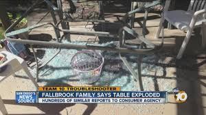 Patio Table Glass Shattered Fallbrook Family Says Their Glass Table Exploded Youtube