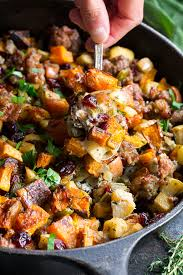 paleo butternut sausage with apples cranberries