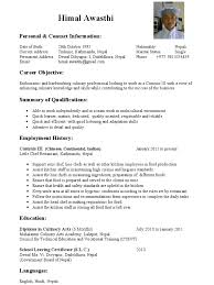 Culinary Resume Examples by Assistant Chef Resume Objective Contegri Com