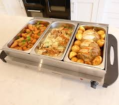 kingavon bs100 3 pan stainless steel buffet server and warming