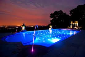 Pool At Night Night Lights Fiber Optic Pools Led Landscape Lighting Design Nj