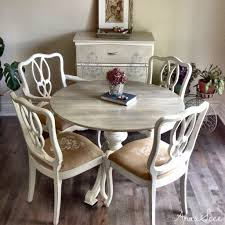 uniquely refurbished vintage carved solid wood dining table and uniquely refurbished vintage carved solid wood dining table and four chairs all chalk painted antique