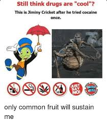 Jiminy Cricket Meme - still think drugs are cool this is jiminy cricket after he tried