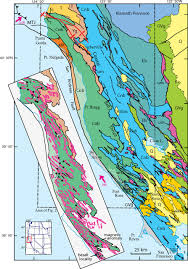 Map Of The Coast Of California Previously Unrecognized Regional Structure Of The Coastal Belt Of