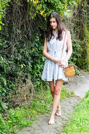 a striped sundress with thml style waltz
