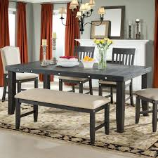 farm dining room sets farmhouse table designs set for with bench