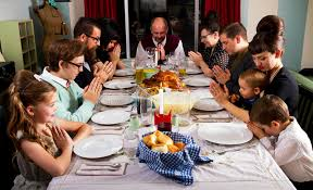 family thanksgiving dinner turkey prayer stock photo image 35562368