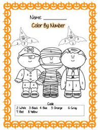 halloween color by number pages halloween activites pinterest