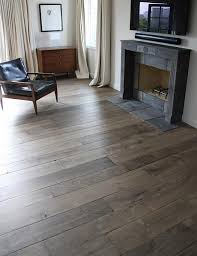 our custom aged oak floors in manoir gray are extremely