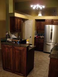 peninsula island kitchen coffee stain and glaze kitchen