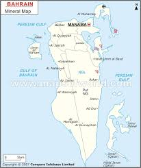 map of bahrain bahrain mineral map resources of bahrain