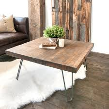 wooden coffee table with hairpin legs white shanty wct 1