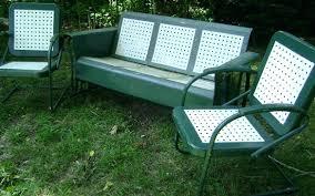 vintage lawn furniture glider vintage metal porch glider chair