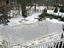 backyard ice rink plastic outdoor furniture design and ideas