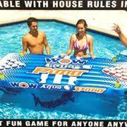 Pool Beer Pong Table by Wow Aqua Pongpool Lounge Beer Pong Inflatable With