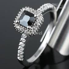 square silver rings images 2018 women square black onyx engagement band 925 sterling silver jpg