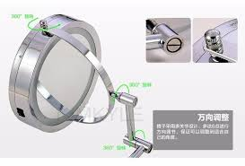 Wall Mounted Magnifying Mirror 10x Makeup Mirrors Led Wall Mounted Extending Folding Double Side Led