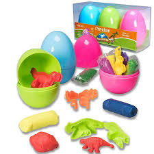 dinosaur easter eggs prextex jumbo 4 easter eggs filled with clay dough and