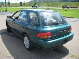 classic subaru wagon 1997 acadia green pearl metallic subaru impreza l wagon 16677427
