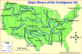 us map printable us river map map of us rivers map of arkansas lakes streams and