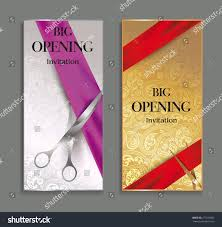 Inauguration Invitation Card Sample Elegant Big Opening Invitation Cards Floral Stock Vector 277233002