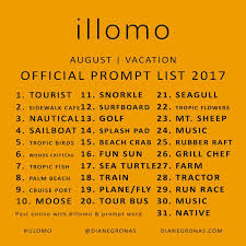 Challenge Official Illomo Daily Drawing Challenge Official Prompt Lists Draw An