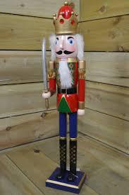 Nutcracker Christmas Decorations Uk by 60cm Tall Wooden Nutcracker Soldier Christmas Decoration With