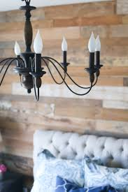 Diy Rustic Chandelier Diy Wood Accent Wall Design Life Diaries