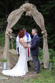 wedding arches decorated with burlap diy wedding arch at our amazing backyard wedding pretty proud of