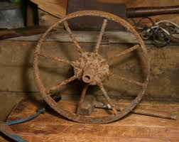 Wagon Wheel Home Decor Old Wagon Wheel Etsy