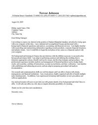 sample cover letter for financial analyst sample resume fotolip