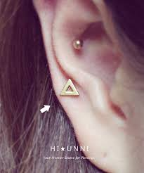 cartilage earing 16g triangle cartilage earring helix conch tragus ear stud