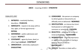 Synonyms Of Opulent Compilation Of All Synonyms Asked In Ssc From 1997 Till Date In
