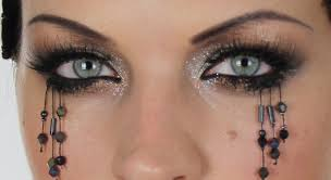 halloween makeup stickers halloween bead tears make up hair tutorial youtube