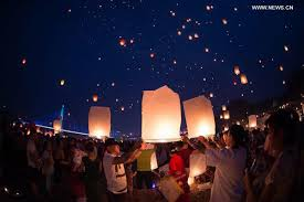 lanterns new year dai ethnic releases sky lanterns to celebrate new year all