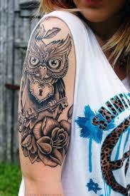 owl tattoo girly ink inked women pinterest amazing
