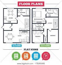 Floor Plan Pdf Architecture Plan Furniture House Vector U0026 Photo Bigstock