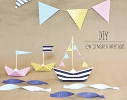How To Make Boat From Paper - how to make a paper boat my daily magazine design diy