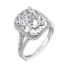 cushion cut split shank engagement rings euphemia split shank halo engagement ring for cushion