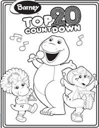 free printable barney coloring pages art