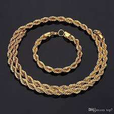 luxury gold necklace images 2018 2018 new necklaces 75cm twist chain luxury gold 20cm bracelet jpg