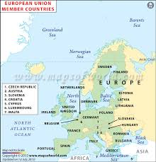 a map of europe with countries european union map list of member countries of the european union