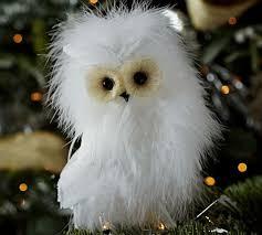 feather owl ornament pottery barn owl