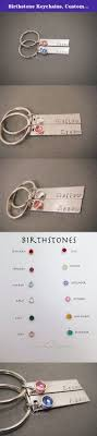 personalized birthstone keychains birthstone keychains custom name keychains couples keychains