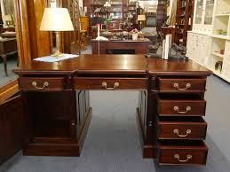 Schreibtischplatte Mit Schubladen Partner Schreibtisch Büroschreibtisch Schreibmöbel Massivholz B