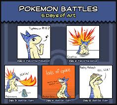 Pokemon Battle Meme - pokemon battles 5 days of art meme by friendlyfiremf on deviantart