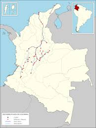 Bogota Colombia Map South America by Rail Transport In Colombia Wikipedia