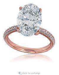 Blake Lively Wedding Ring by Lively 9 Carat Oval Cubic Zirconia Rose Gold Engagement Ring